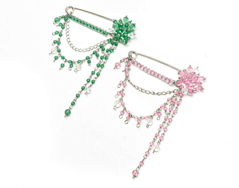 "Dangling Rhinestone Pin 3.25""x 4.25"" - 1 Piece"