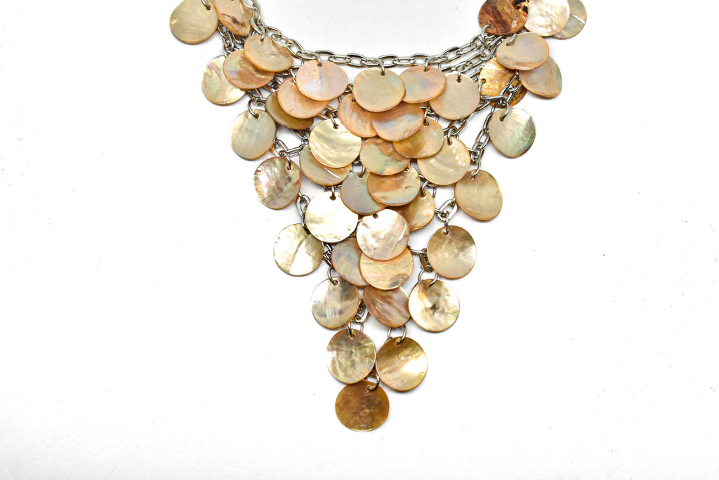 "Aurora Borealis Shell Necklace 6.50"" x 5"" - 1 Piece"