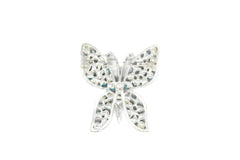 Blue Rhinestone Butterfly with Pin 2