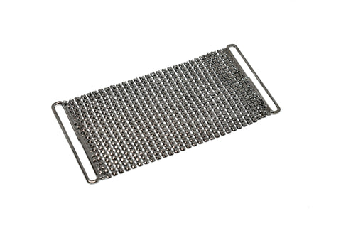 "4.5"" x 2"" Metal Mesh fabric Dress Clasp Connector"
