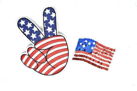 American Flag Iron-On Applique Patches