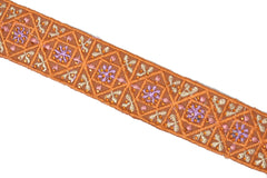 Assorted Colorful Embroidered Indian Trim 1.25