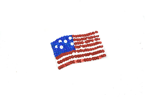 "5.5"" or 3""' American Flag Iron-On Applique Patch"