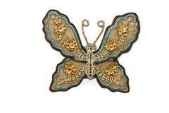 Beaded Sequins Butterfly Applique 4 1/4