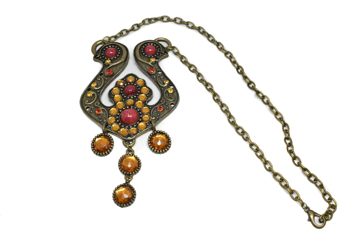 Antique Necklace with Colored Gems