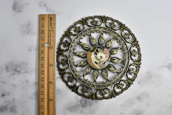 Antique Bronze Floral Buckle