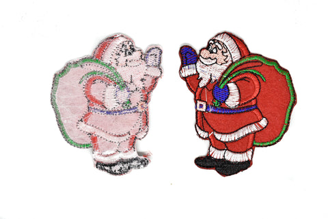 "2.5"" x 3.5"" Santa Claus Embroidered Iron-On Patch Applique- Christmas Patch"
