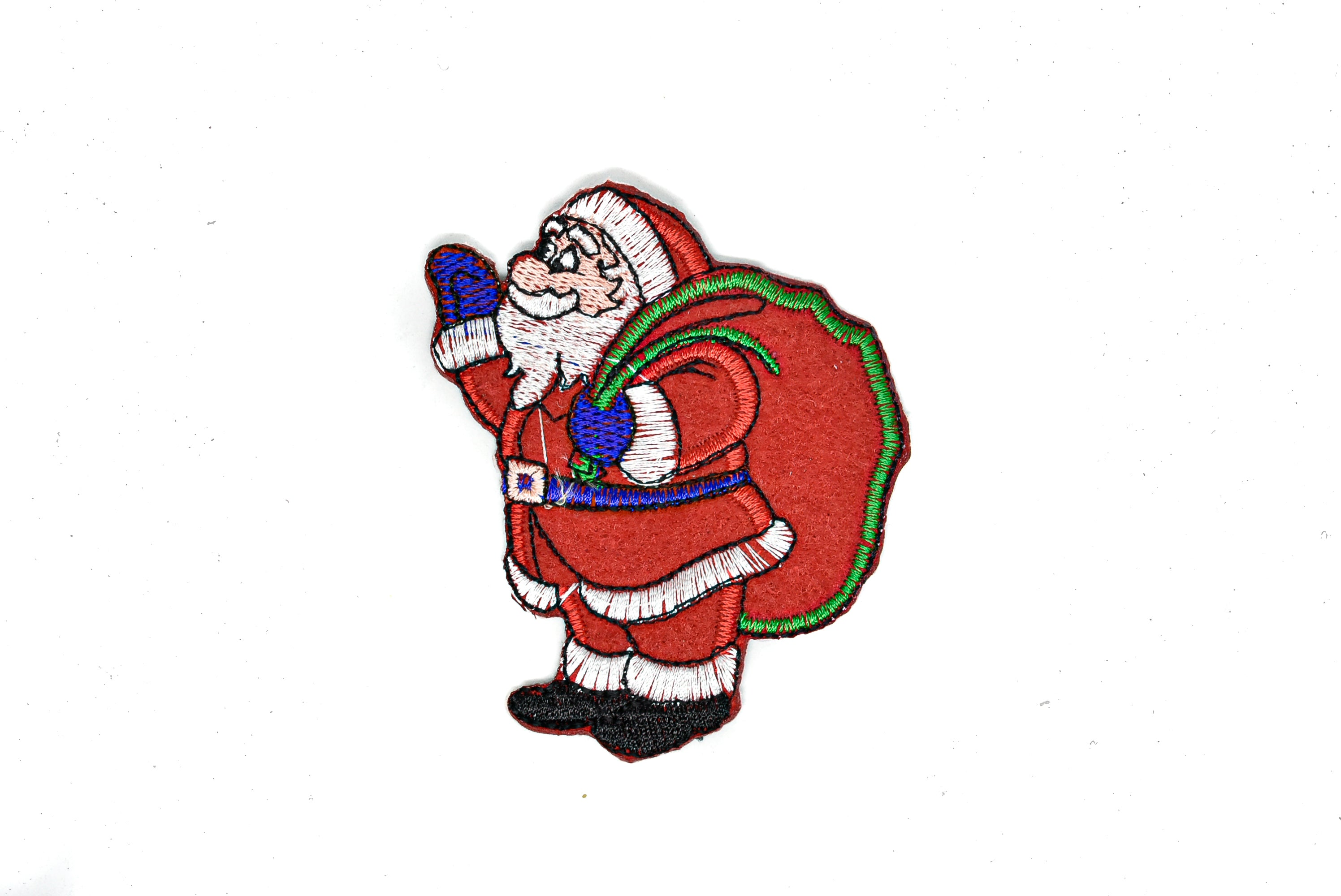 "Santa Claus Waving Iron-On Patch 2.5"" x 3.5"" - 1 Piece"