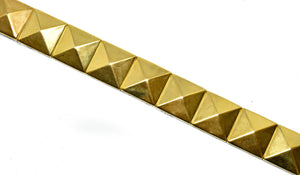 "Gold Studded Iron-On Trim 3/4"" - 1 Yard"