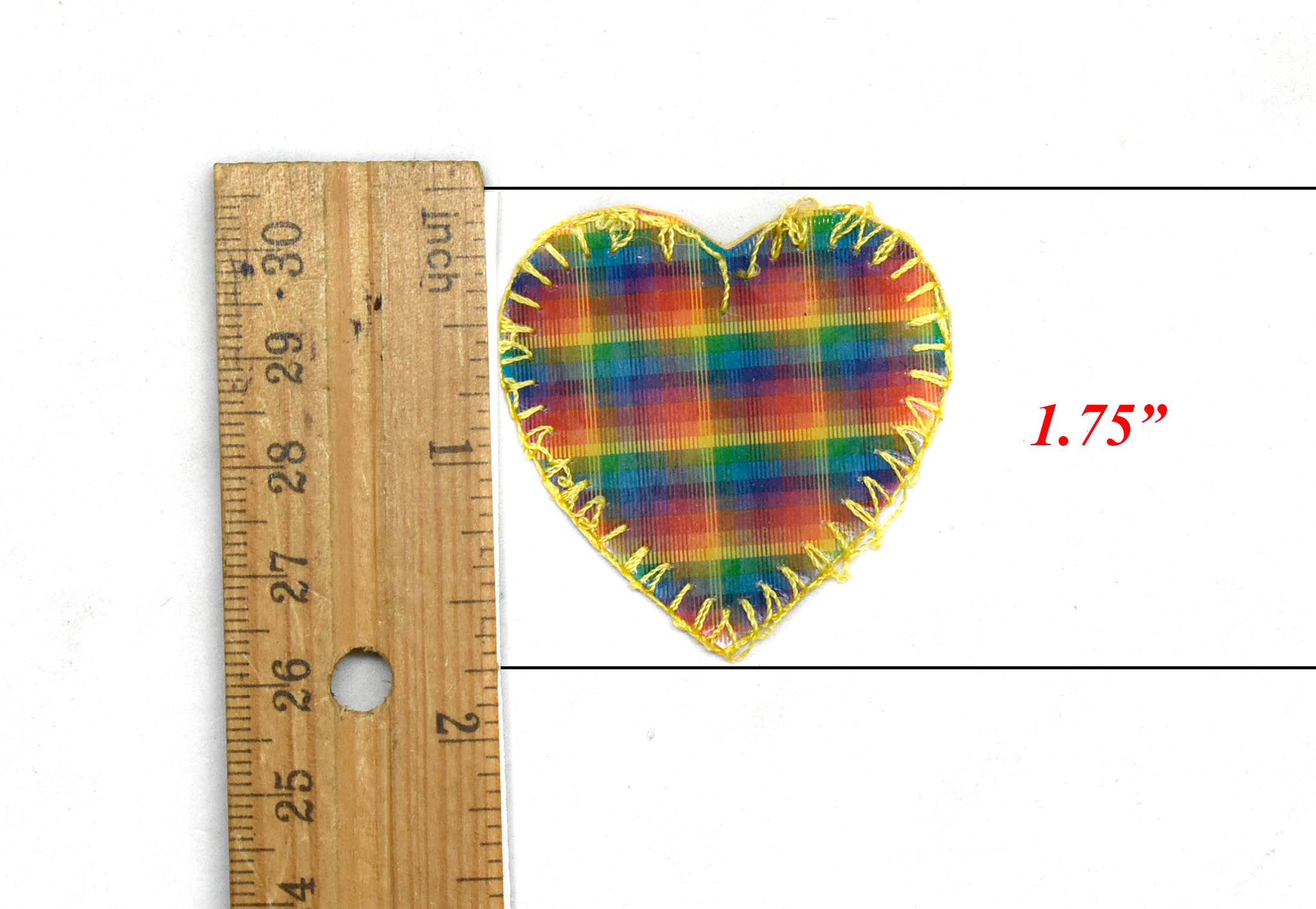 3D Rainbow Heart and Flower Iron-On Patch