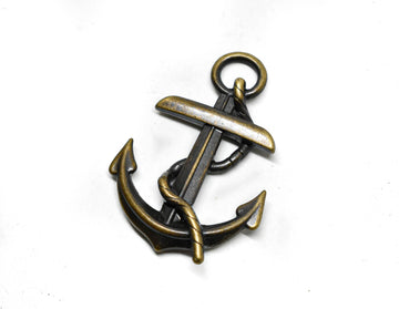 "Anchor Buckle Connector Charm 2"" x 2.75"" - 1 Piece"