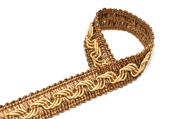 "Gold Braided Gimp Trim 5/8"" - 1 Yard"