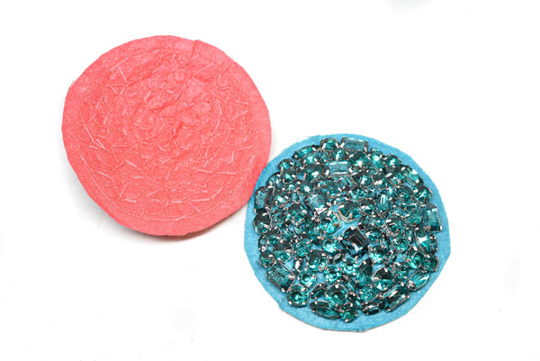 "4"" Circular Applique with Chunky Rhinestones"