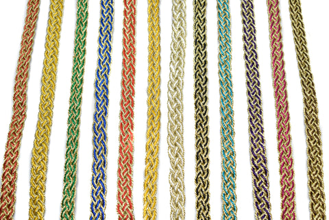 Metallic Two-Tone Braided Gimp Trim