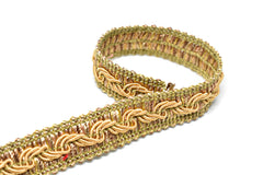 Gold Braided Gimp Trim 5/8