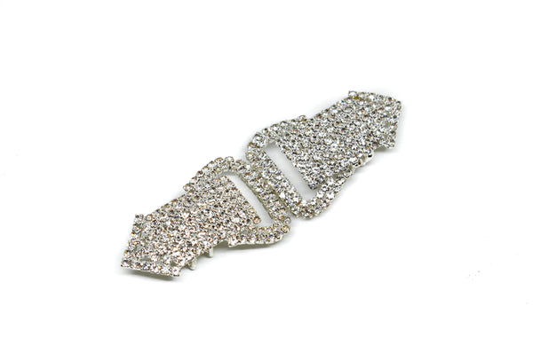 "4.25"" x 1.50"" Stylish Rhinestone Connector"