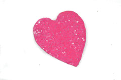 Pink Sequins Heart Applique 4.5