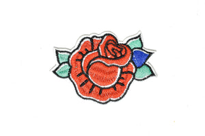 3'' x 2'' Rose Patch / Iron-on / Sew-on