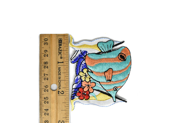 "Colorful Fish Embroidered Patch Applique 2.50"" x  2"" -1 Piece"
