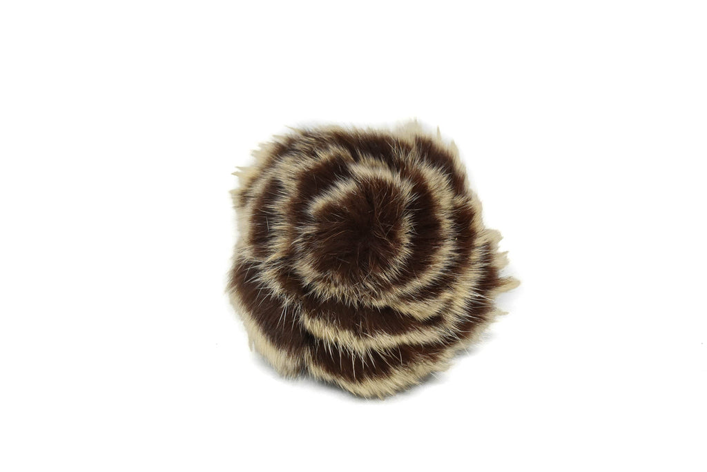 "Two-Tone Furry Flower Piece 3"" - 1 Piece"