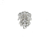 1 3/4''  Crystal Rhinestone Unique-Shaped Brooch