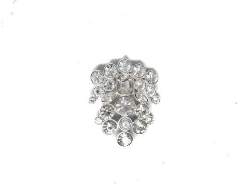 "Unique Crystal Rhinestone Brooch 1.75"" - 1 Piece"