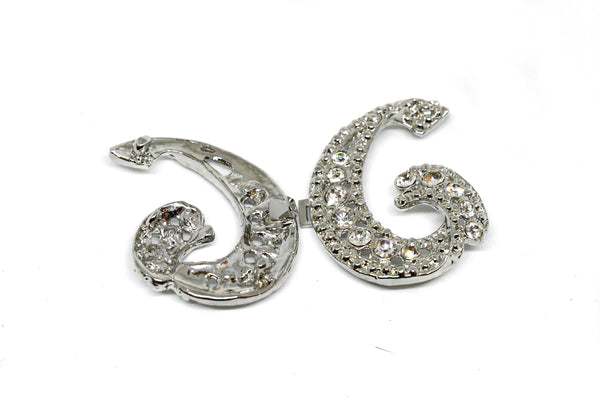 "3"" x  2"" Letter H Rhinestone Connector"