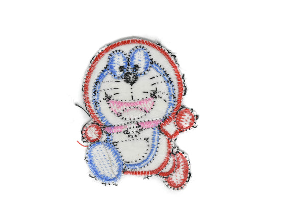 "2 5/8"" x 2"" Doraemon Cat Character Iron-on Patch Applique"