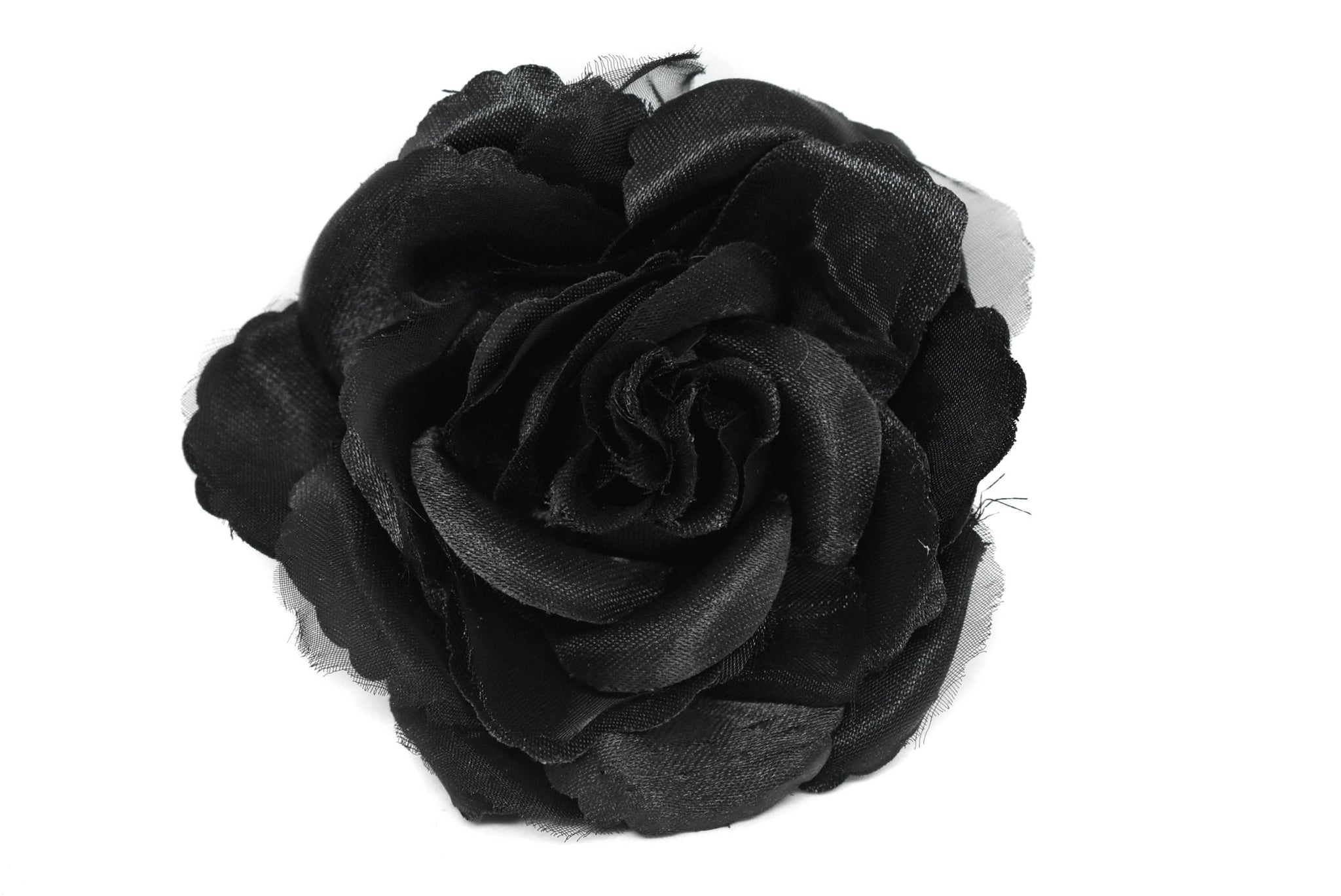Black Organza Flower Piece