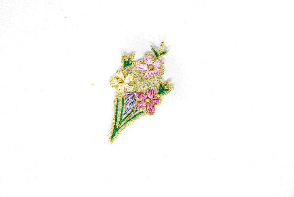 Embroidered Flower Iron-On Patches