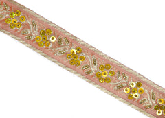 Assorted Sequins Beaded Floral Indian Trim 1.25