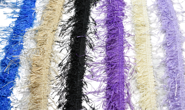 "Frayed Fringe Trim- Fluffy Fringe Trim- Puffy Fringe Trim 1"" - 1 Yard"