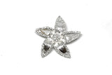"Rhinestone Flower Brooch w/ Pin 2.50"" - 1 Piece"