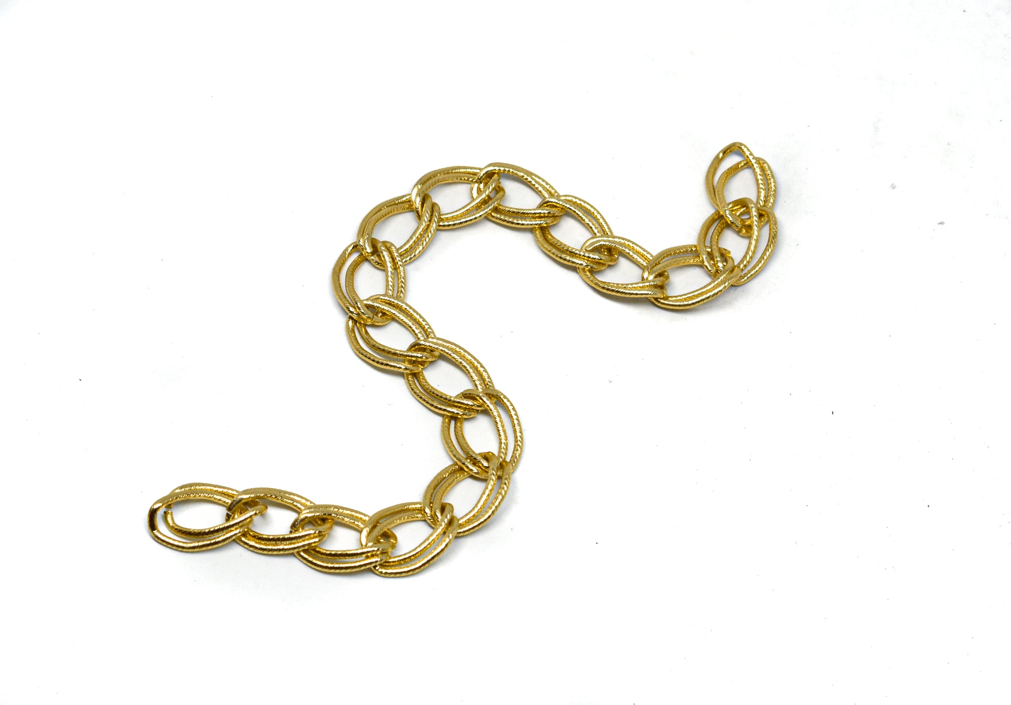 "1/2"" (13 mm) Double Layer Textured Chain (Aluminum)"