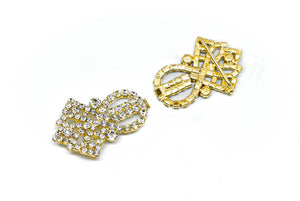 Royal Rhinestone Connector/Buckle