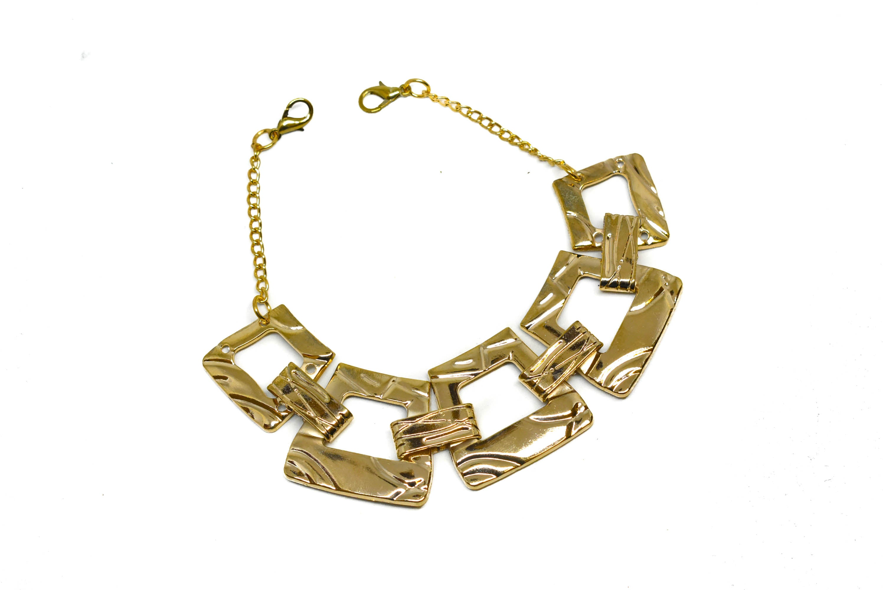 Gold Rectangular Shape Necklace