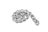 "Textured Aluminum Chain 1/4"" (8 mm) - 1 Piece"