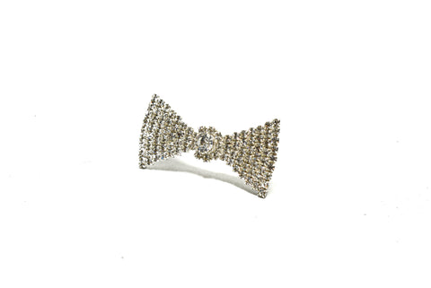 2'' x 1'' Crystal Rhinestone Triangular Bow Shape Brooch- Design 3