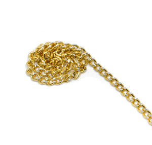 "Gold Diamond Cut Aluminum Chain 1/10"" (2.5 mm) - 1 Yard"