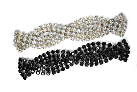 Chic 3-line Braided rhinestone Connector/Closure