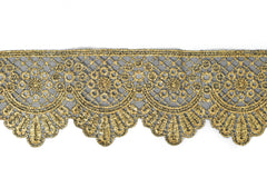Metallic Gold Embroidered Trim 2.50