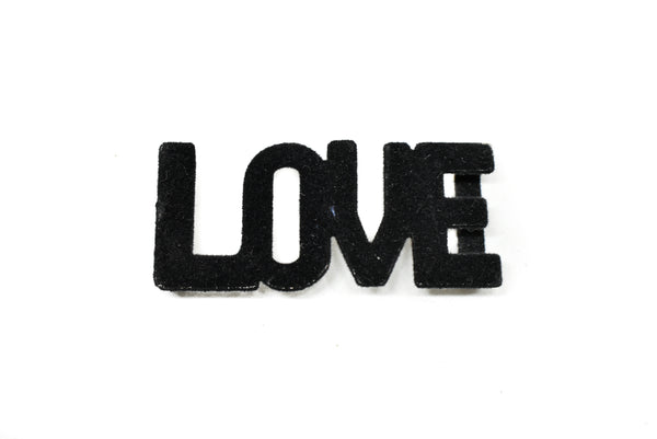"2.5"" x 1"" ""LOVE"" Suede Buckle Connector"