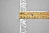 "White Floral Lace Trim 1"" - 1 Yard"