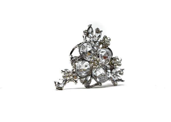 "1/2"" Crystal Rhinestone Unique-Shaped Brooch"