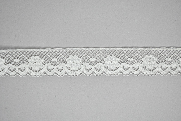 "Fancy White Lace Trim 1"" - 1 Yard"