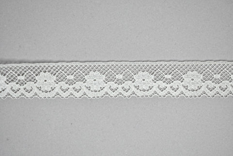 "1"" Fancy White Lace Trim"