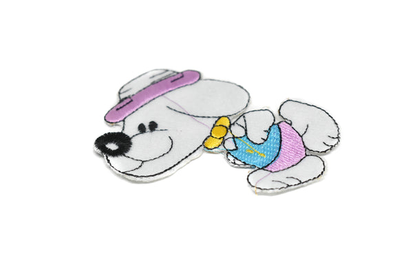 "3.50"" x 2.50"" Preppy Hipster Snoopy Embroidered Iron-on Patch Applique"