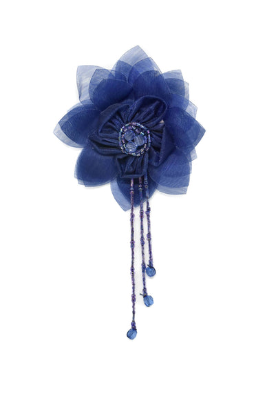 Assorted Organza Flower Piece with Beaded Fringe