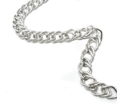 Double Layer Silver Aluminum Chain 1/2