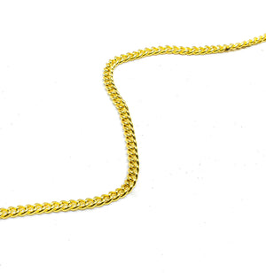 "Gold Aluminum Chain 1/10"" (2.5 mm) - 1 Yard"